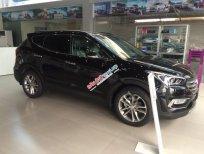 Cần bán Hyundai Santa Fe CKD đời 2017, màu đen