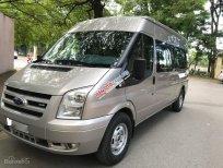 Em bán Ford Transit 2.4 16 chỗ, mầu phấn hồng, sản xuất 2013 tư nhân chính chủ, xe chuyên chở học sinh