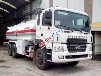 Xe chở xăng dầu Hino 15 khối, màu trắng, nhập khẩu