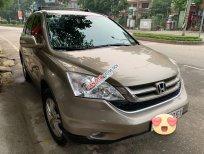 Bán Honda CR V 2.4AT sản xuất 2011, màu vàng, giá tốt