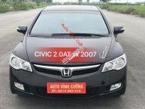 Bán Honda Civic 2.0AT năm 2007, màu đen