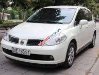 Cần bán xe Nissan Tiida 1.6AT 2007, màu trắng, nhập khẩu Nhật Bản, đăng ký chính chủ 2008