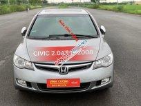 Bán Honda Civic 2.0AT đời 2008, màu xám (ghi)