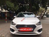 Cần bán Hyundai Accent MT sản xuất 2018, màu trắng xe gia đình, 469 triệu