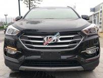 Bán Hyundai Santa Fe 2.4 AT 2017, màu đen, 928tr