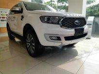 Bán xe Ford Everest Titanium 2 cầu máy dầu đời 2021 màu trắng giao ngay tại Lai Châu, Hỗ trợ trả góp