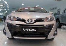 Bán xe Toyota Vios 1.5G 2020, màu bạc, giao ngay, trả góp 90%, KM lớn