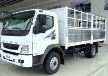 Xe tải Nhật Bản nhập 3 cục, Mitsubishi Fuso 5 tấn thùng dài 5.3m và 6.1m hỗ trợ đóng thùng, trả góp lãi suất thấp