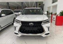 Lexus LX570 Super Sport sản xuất 2020, nhập trung đông,màu trắng,nội thất nâu,xe giao ngay.