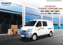 Xe tải Thaco Towner tải Van 2020 2 chỗ ngồi, tải 490 nâng tải 945 kg, hỗ trợ trả góp