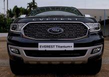 Bán xe Ford Everest Titanium 1 cầu máy dầu MÀU XANH ĐEN đời 2021 giao ngay tại HÀ NỘI, hỗ trợ TRẢ GÓP