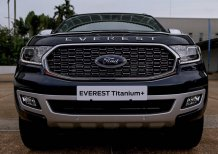 Bán xe Ford Everest Titanium 1 cầu máy dầu MÀU XANH ĐEN đời 2021 giao ngay tại ĐIỆN BIÊN, hỗ trợ TRẢ GÓP